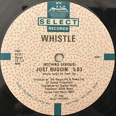WHISTLE:(NOTHING SERIOUS)JUST BUGGIN'(LABEL SIDE-A)