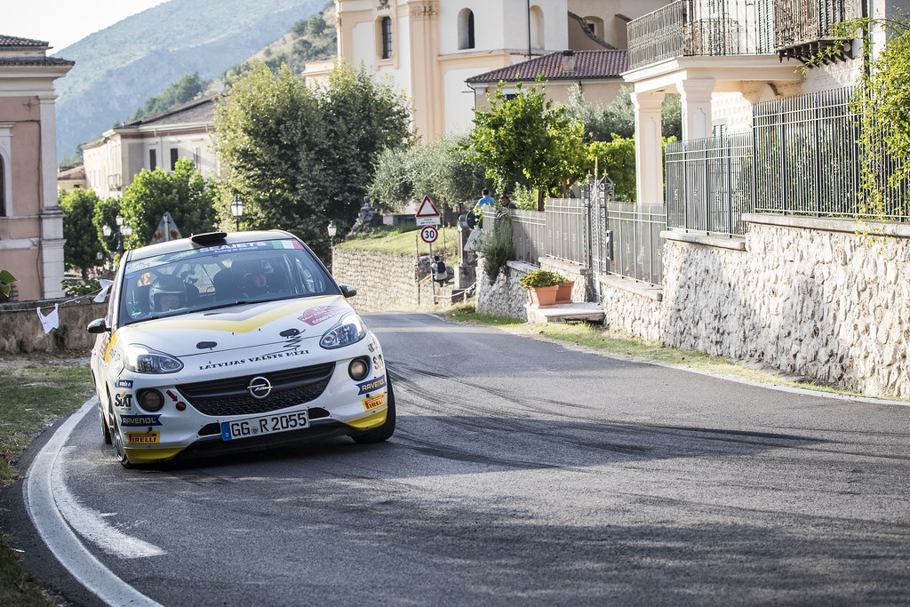 37 SESK Martin ( lva), FRANCIS Renars (lva), Opel adam,  action during the 2018 European Rally Championship ERC Rally di Roma Capitale,  from july 20 to 22 , at Fiuggi, Italia - Photo Gregory Lenormand / DPPI