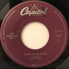 PORTRAIT:HERE WE GO AGAIN(LABEL SIDE-A)