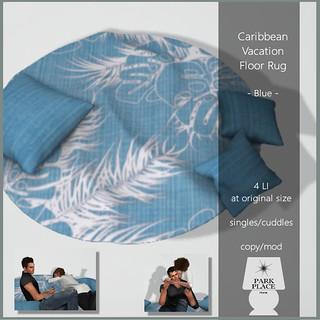 [Park Place] Caribbean Vacation Floor Rug - Cuddles
