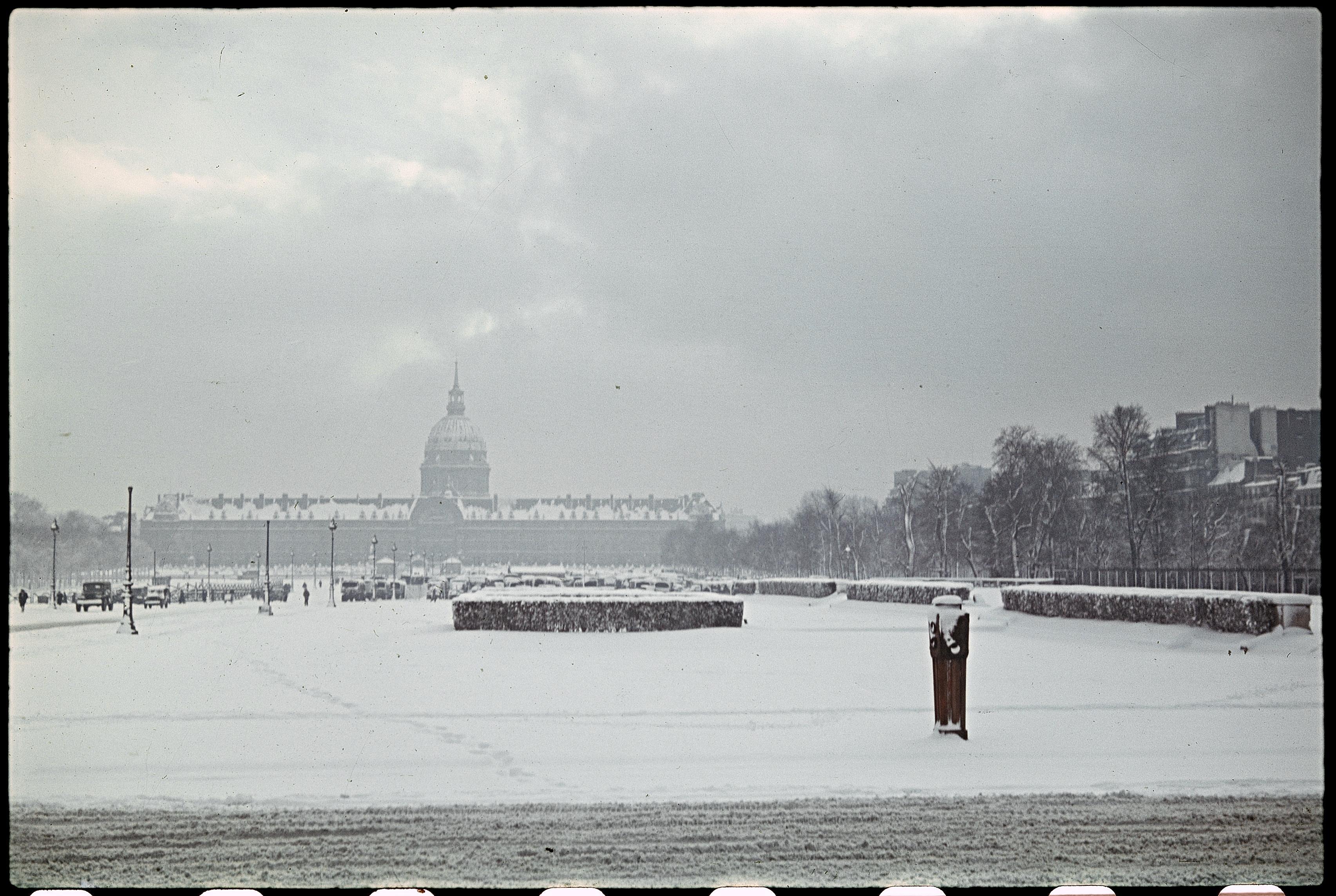 Дворец Инвалидов зимой