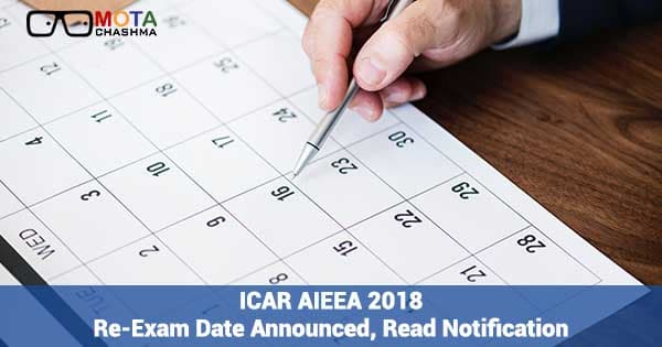 icar aieea 2018 re exam date announced