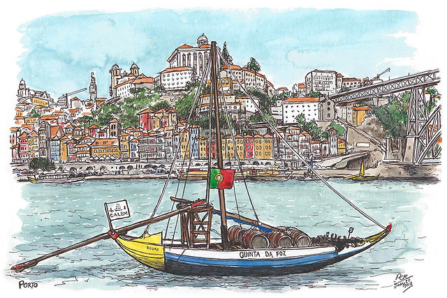 Porto view from Vila Nova de Gaia