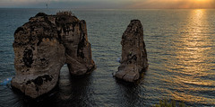 Pigeons' Rock, Sabah Nassar's Rock, or Rock of Raouché - in Beirut