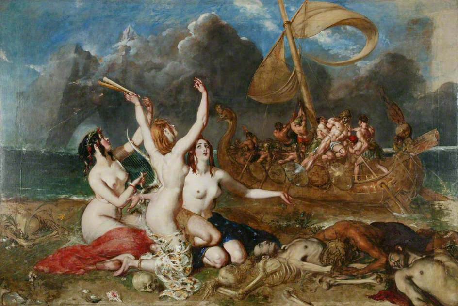 The Sirens and Ulysses, oil on canvas by William Etty, Currently in the collection of the Manchester Art Gallery. Photo taken on December 19, 2013.