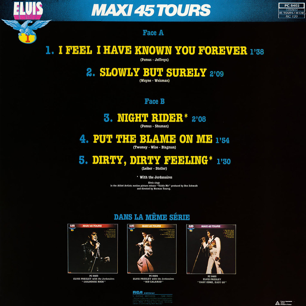 Elvis Presley – Maxi 45 Tours