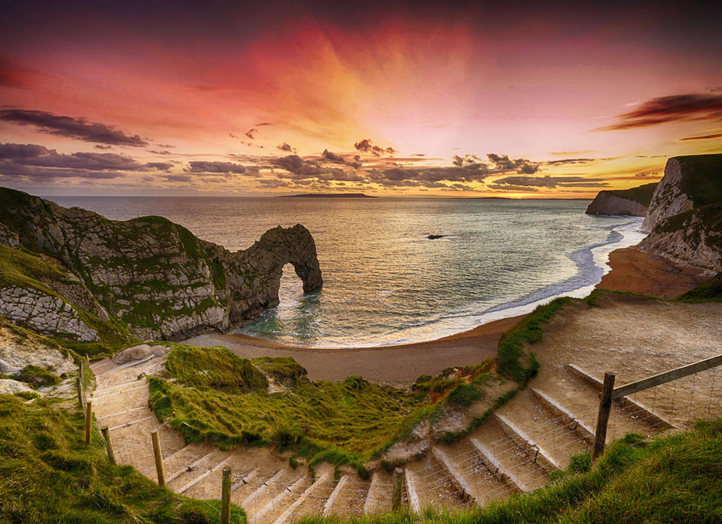 Durdle Door on the Jurassic Coast near Lulworth in Dorset, England. Credit Lies Thru a Lens