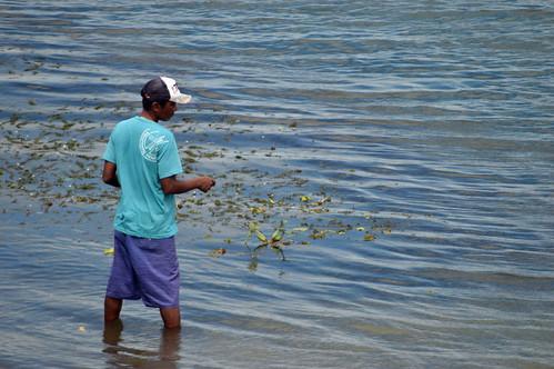 pesca no anzol