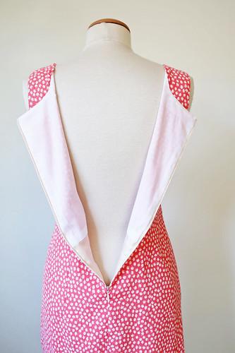 orange dress zipper lining