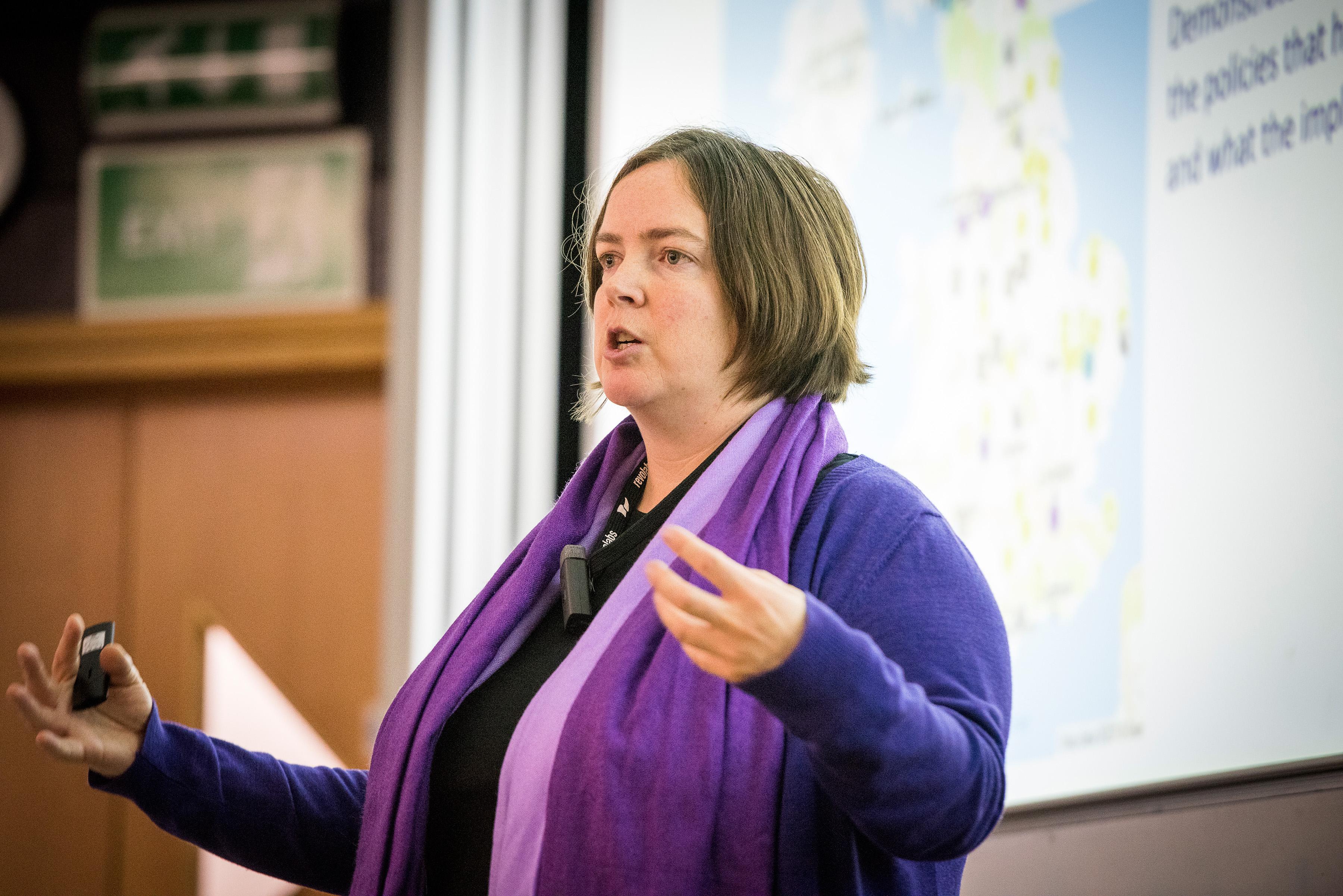 Michelle McManus delivering a lecture