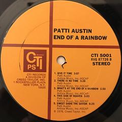 PATTI AUSTIN:END OF A RAINBOW(LABEL SIDE-B)