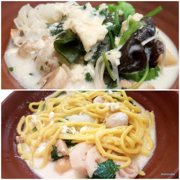 Vegetarian noodle station