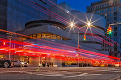 Guggenheim Museum NYC Light Streaks