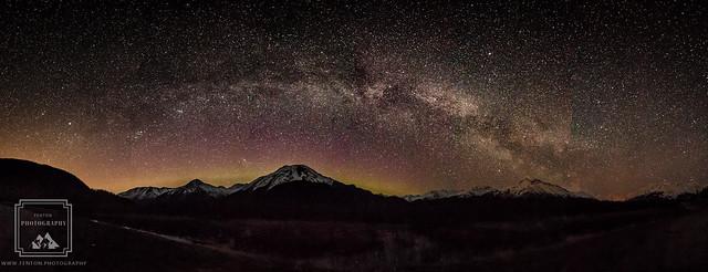 Chugach Milky Way, Canon EOS REBEL T6S, Sigma 10-20mm f/3.5 EX DC HSM