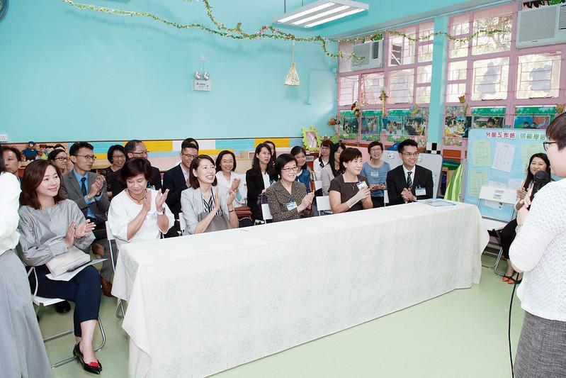 政府官員到訪參觀「明愛到校學前康復服務試驗計劃」推行狀況