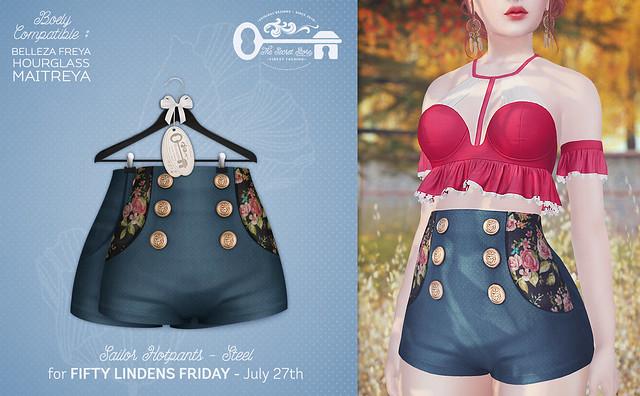 Sailor Hotpants - Steel