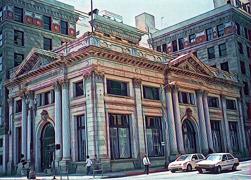 Los Angeles California - Former Farmers and Merchant Bank - Victorian Style