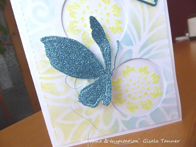 Grußkarte mit Schmetterling