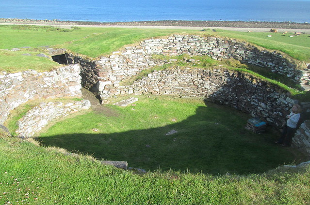 Càrn Liath Broch, Interior