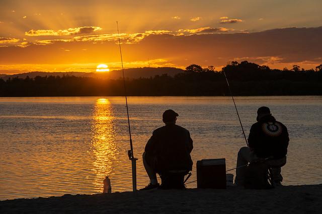Sunset Fishing, RICOH PENTAX K-3 II, smc PENTAX-DA 18-135mm F3.5-5.6 ED AL [IF] DC WR