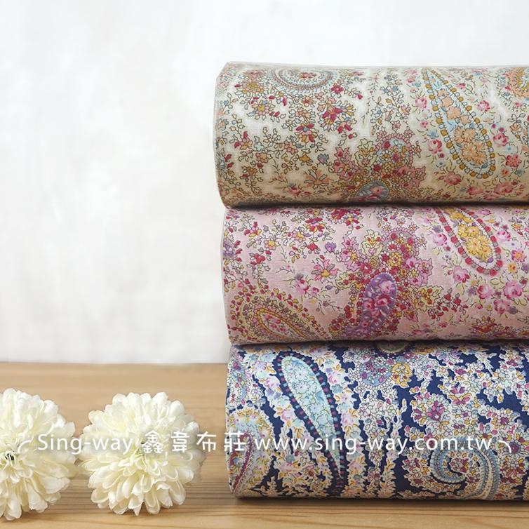 變形蟲 密集繁花 花圈 束口袋 手工藝DIy拼布布料 CA450749
