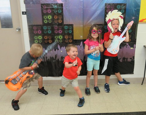Having a rockin' good time at our Summer Reading Program Finale Party