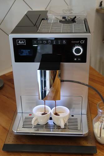 Erste Espresso (noch mit Standardeinstellung)