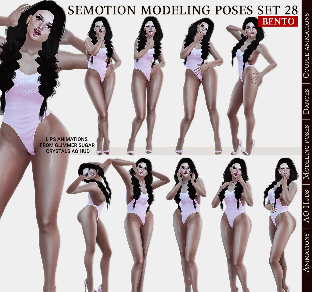 SEmotion Female Bento Modeling poses Set 28 – 10 static poses