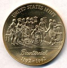 Mint Bicentennial medal obverse