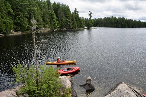 Exploring Silent Lake by kayak