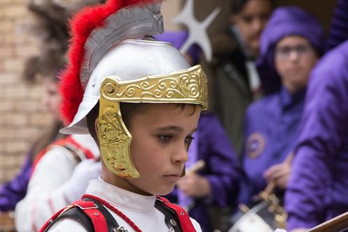 Calanda (Teruel) - Procesión del Pregón. Temible romano