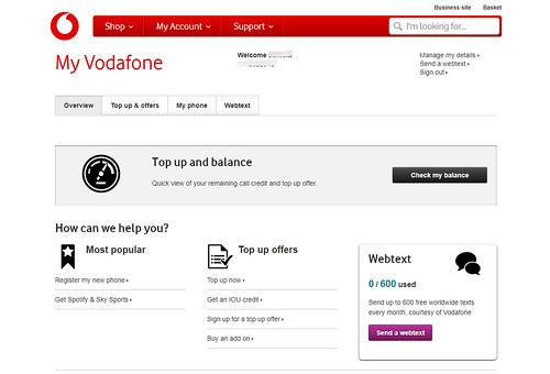 Vodafoneセットアップ画面5