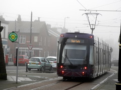 Tram at Fleetwood Terminal