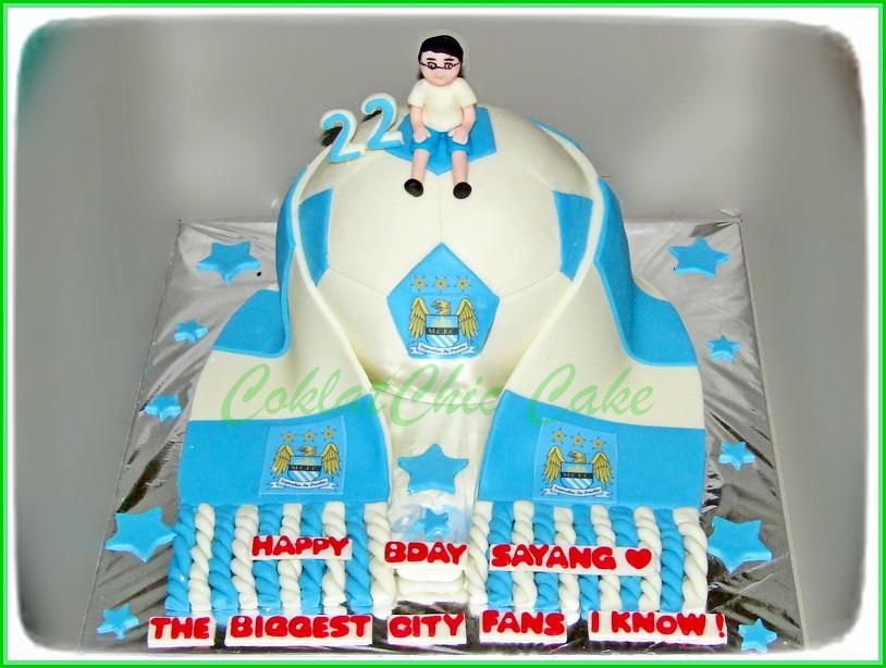 Cake Soccer Man City 15 cm