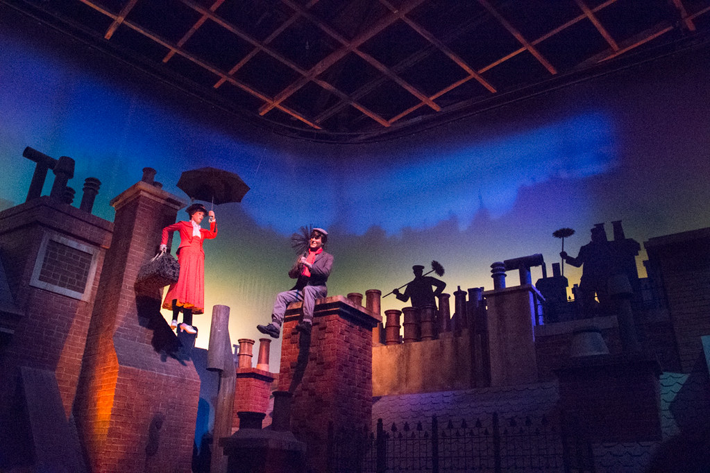 Mary Poppins display on Great American Movie Ride