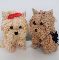 for all that lovely couple of shih tzu cub in crochet I loved it so beautiful. Good morning, girls 🐶 😍 🐶