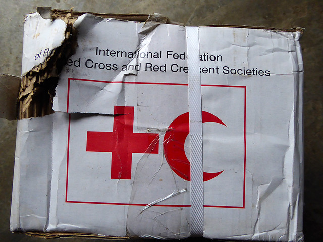 International Red Cross package that was a part of the Red Cross Aid distribution  to tanna Island after Cyclone Pam struck Tanna Island in March 2015