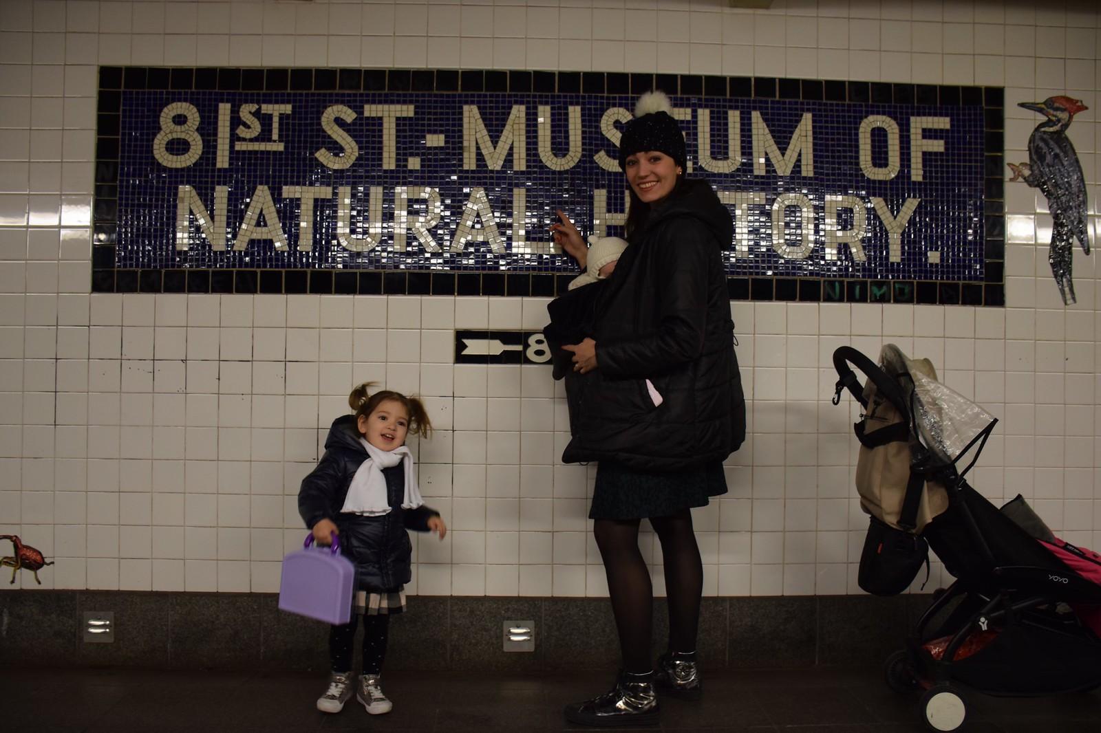 En la parada del metro