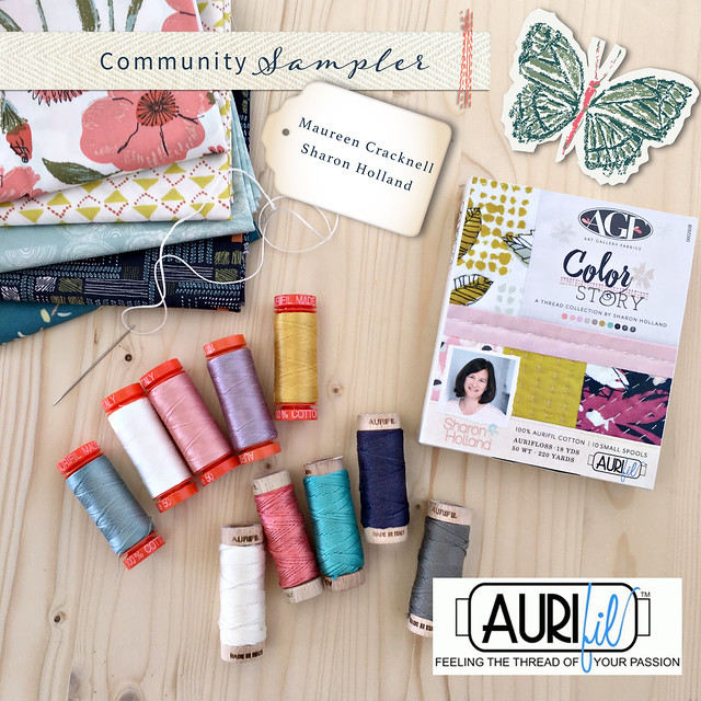 A Community Sampler Giveaway with Aurifil Threads!