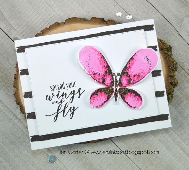 Jen Carter Spread Wings Faithful Flutterings Pink