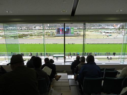 福島競馬場の3階一般席からの眺め