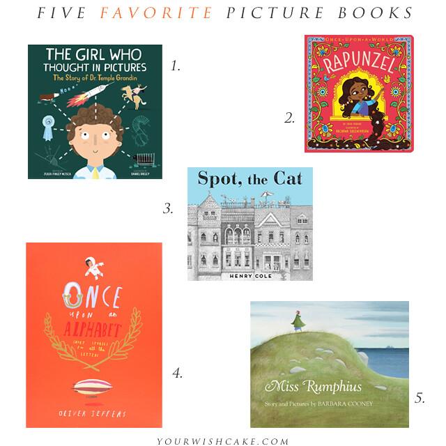five favorite picture books | yourwishcake.com