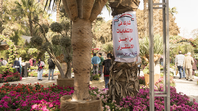 Elections and flowers at Egypt's Flowers Fair 2018
