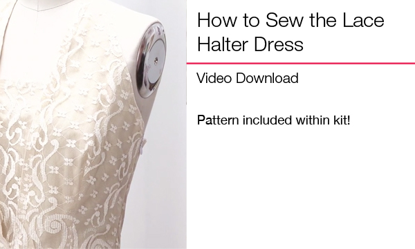 How to Sew Lace Halter Dress