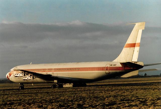 9Q-CKP Boeing 707-131(F) cn 17658 ln 18 Omega Air Shannon 15Jan86