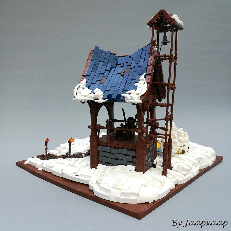 lego moc winter lake