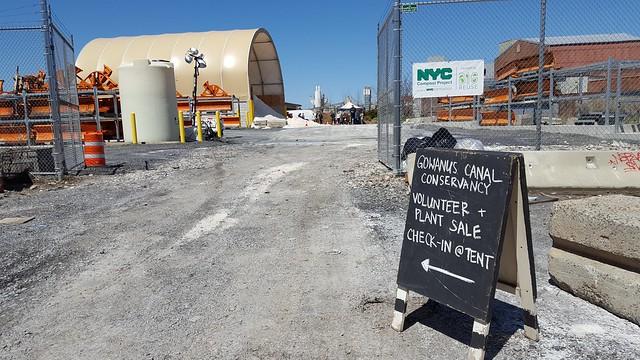 Gowanus Canal Conservancy Salt Lot entrance, April 2018