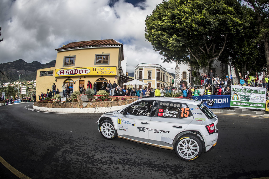 15 AVCIOGLU Orhan, KORKMAZ Burcin, Toksport Wrt team Skoda Fabia R5, action during the 2018 European Rally Championship ERC Rally Islas Canarias, El Corte Inglés,  from May 3 to 5, at Las Palmas, Spain - Photo Gregory Lenormand / DPPI
