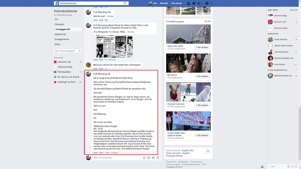facebook mer om rødstrand