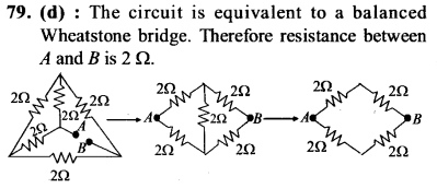 NEET AIPMT Physics Chapter Wise Solutions - Current Electricity explanation 79